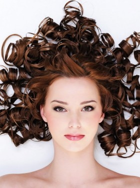 Stylish curly hairstyle